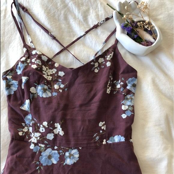 GARAGE flowered mini dress
